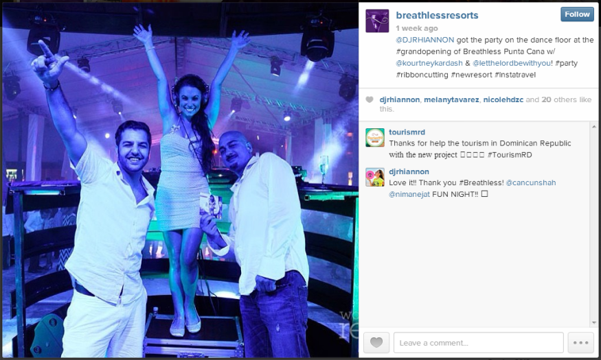 DJ Rhiannon rocked the opening of Breathless Punta Cana!