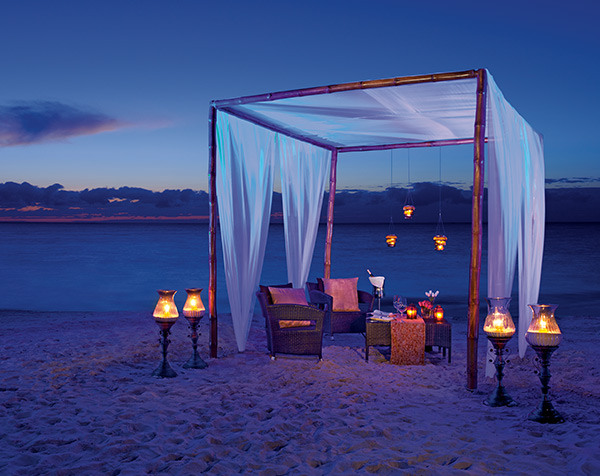 It doesn't get any more romantic than a private dinner on the beach at Breathless Punta Cana Resort & Spa.