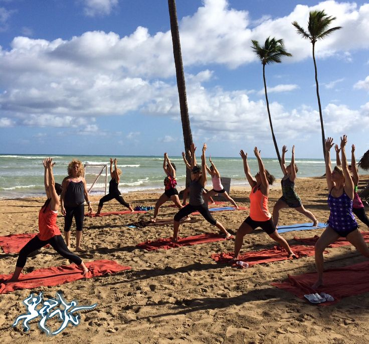 Enjoy fitness classes right on the beach at Breathless Punta Cana Resort & Spa.