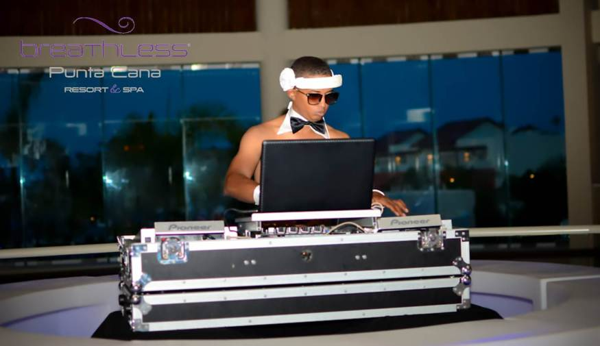 Our DJ always keeps the party going at Breathless Punta Cana!