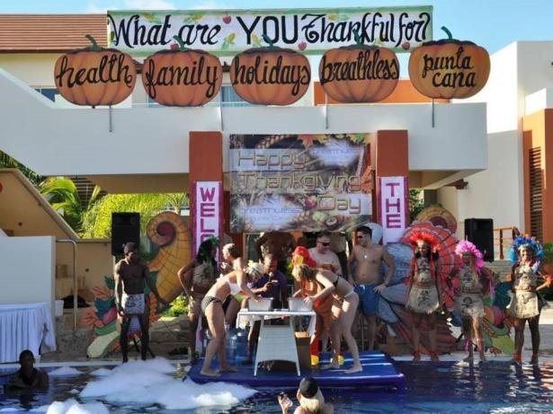 Breathless Punta Cana celebrates the harvest season in the pool!