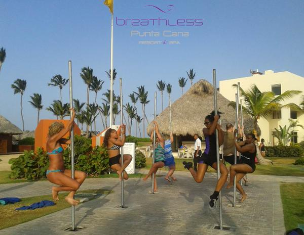 Try A Pole Fitness Class At Breathless Punta Cana Tan Topless