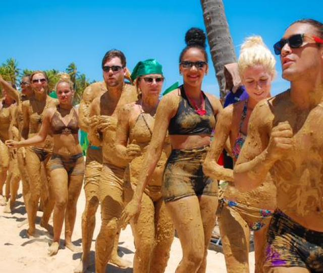 Experience A Mud Beach Party At Breathless Punta Cana