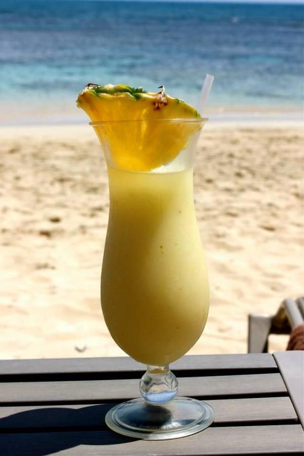 Tropical drink on beach